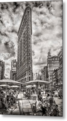 Metal Print featuring the photograph Flatiron Building Hdr by Steve Zimic