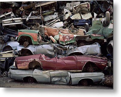 Flattened Car Bodies Metal Print by Dirk Wiersma