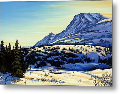 Flattop Winter Metal Print by Kurt Jacobson