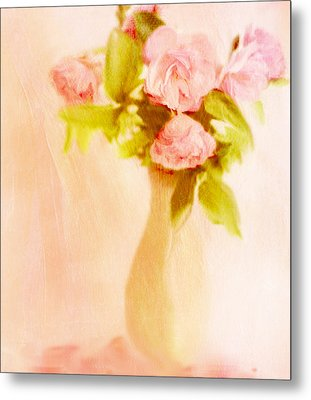 Fleurs Pastel Metal Print
