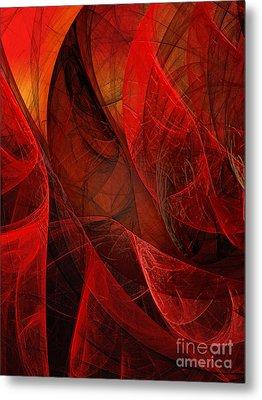 Flickering Flaming Fractal 2 Metal Print by Andee Design