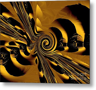 Flight Of The Bumblebee Metal Print by Michelle H