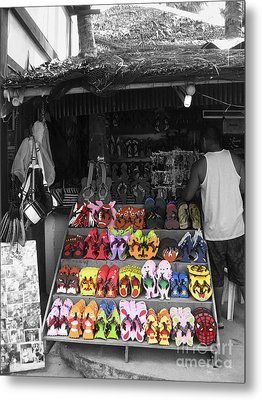 Metal Print featuring the photograph Flip Flops Anyone by Victoria Lakes