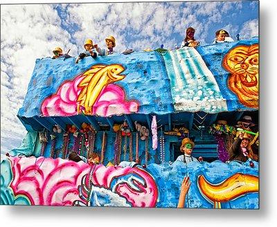 Floating Thru Mardi Gras Metal Print by Steve Harrington