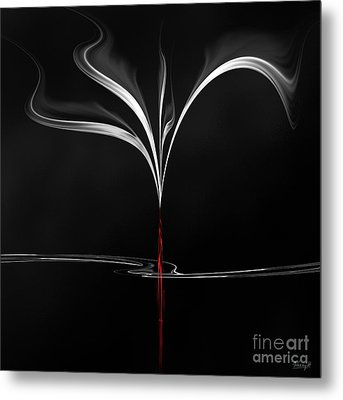 Metal Print featuring the digital art Floating With Red Flow 4 by Johnny Hildingsson