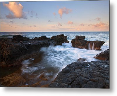 Flooding The Cracks Metal Print by Mike  Dawson