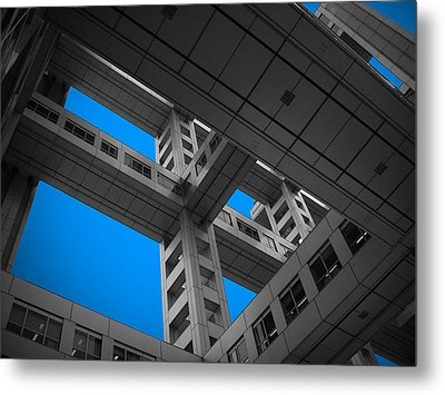 Floors Of Fuji Building Metal Print by Naxart Studio