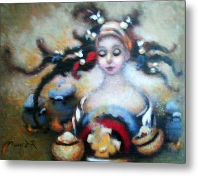 Flora Mae Metal Print by Mary J Russell