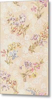 Floral Design With Peonies Lilies And Roses Metal Print by Anna Maria Garthwaite