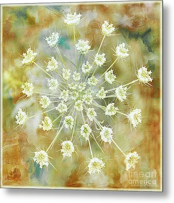 Floral Fireworks Metal Print