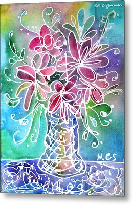 Floral Metal Print by M C Sturman