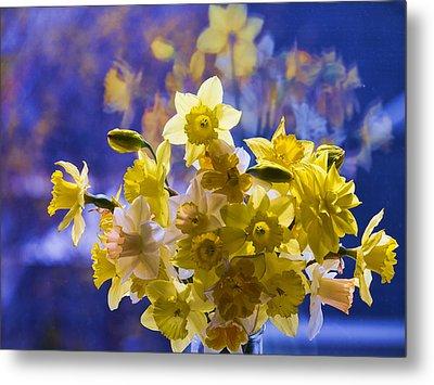 Floral Reflections Metal Print by Jo-Anne Gazo-McKim