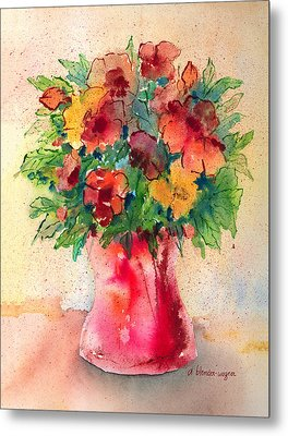 Floral Still Life Metal Print by Arline Wagner
