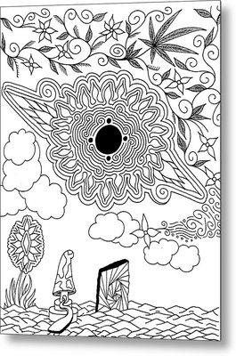 Floral Sun Metal Print by Andrew Padula