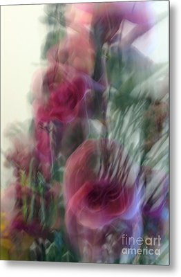 Florals In Motion 2 Metal Print by Cedric Hampton