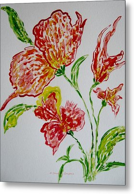 Metal Print featuring the painting Florals by Sonali Gangane