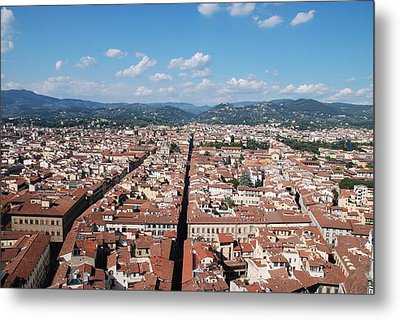 Metal Print featuring the photograph Florence From The Duomo by Dany Lison
