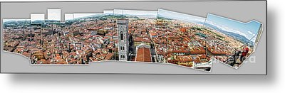 Florence Italy - Panorama -01 Metal Print by Gregory Dyer