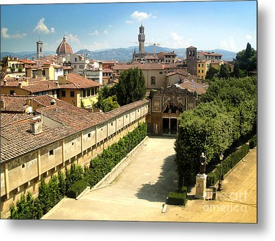 Florence Italy - Pitti Palace - 02 Metal Print by Gregory Dyer