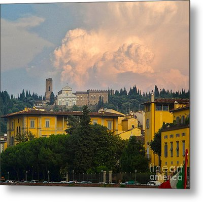 Florence Italy - San Miniato Al Monte Metal Print by Gregory Dyer