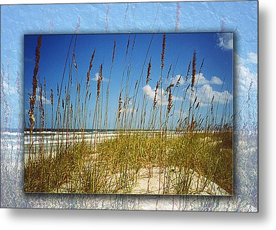 Perfect Day At A Florida Beach Metal Print by Barbara Middleton