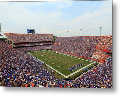 Florida  Ben Hill Griffin Stadium On Game Day Metal Print by Getty Images