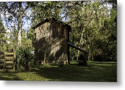 Florida Cracker Barn Metal Print by Lynn Palmer