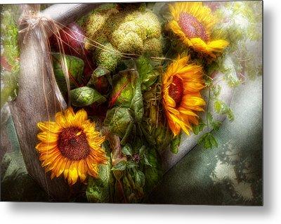 Flower - Sunflower - Gardeners Toolbox  Metal Print by Mike Savad