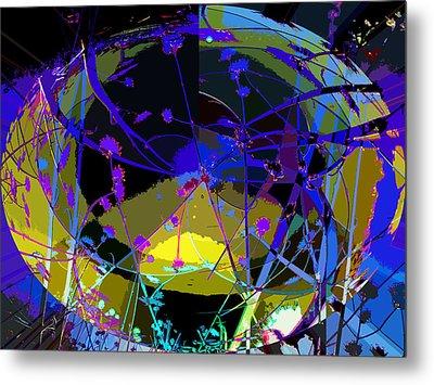 Metal Print featuring the digital art Flower Abstract by Anne Mott