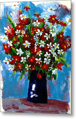 Flower Arrangement Bouquet Metal Print