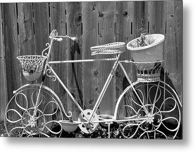Flower Bike Metal Print by Lisa Brandel