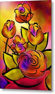 Flower Burst Metal Print by Melisa Meyers