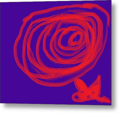 Flower Metal Print by Diana  Lesher