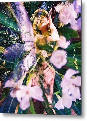 Flower Faerie Dreams Metal Print by Cyoakha Grace