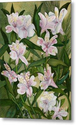 Flower Field Metal Print by Vikki Wicks