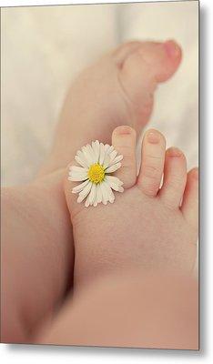 Flower In Baby Toes. Metal Print by Augenwerke-Fotografie / Nadine Grimm