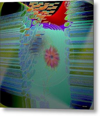 Flower Inside Metal Print by Ines Garay-Colomba