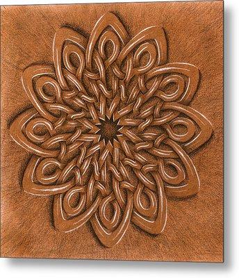 Flower Mandala Metal Print by Hakon Soreide