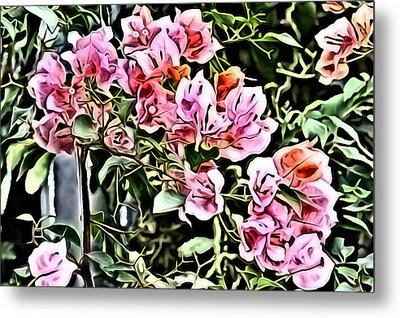 Flower Painting 0003 Metal Print by Metro DC Photography