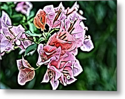 Flower Painting 0005 Metal Print by Metro DC Photography
