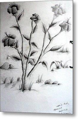 Flower Plant Metal Print by Tanmay Singh