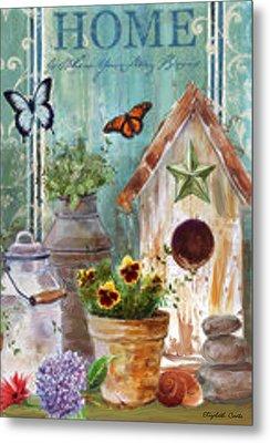 Flower Pot Metal Print by Elizabeth Coats