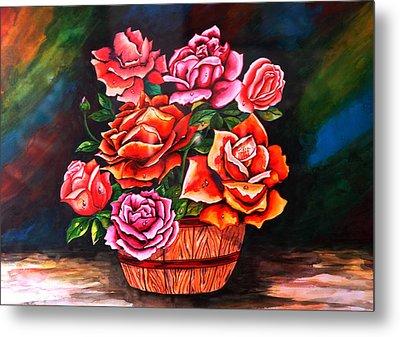 Flower Pot Metal Print by Johnson Moya