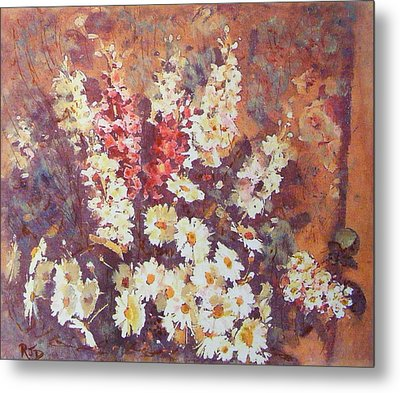 Metal Print featuring the painting Flower Profusion  by Richard James Digance
