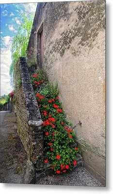 Metal Print featuring the photograph Flower Stairway by Dave Mills