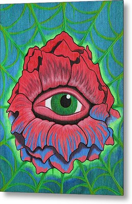Flower Vision Metal Print by Landon Clary