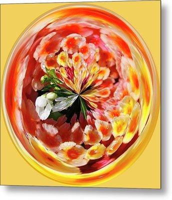 Flowering Orb Metal Print