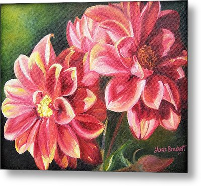 Metal Print featuring the painting Flowers For Mom I by Lori Brackett