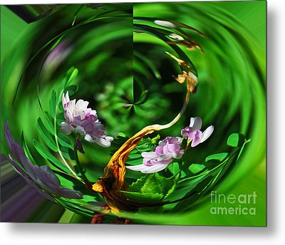 Metal Print featuring the photograph Flowers Gone Wild by Cindy Manero