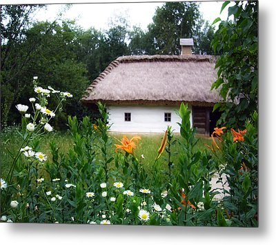 Flowers Near Rural House Metal Print by Aleksandr Volkov